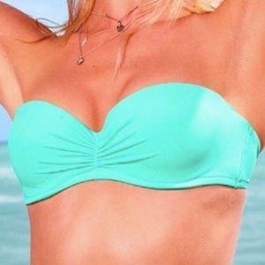 Victoria Secret strapless teal bikini top
